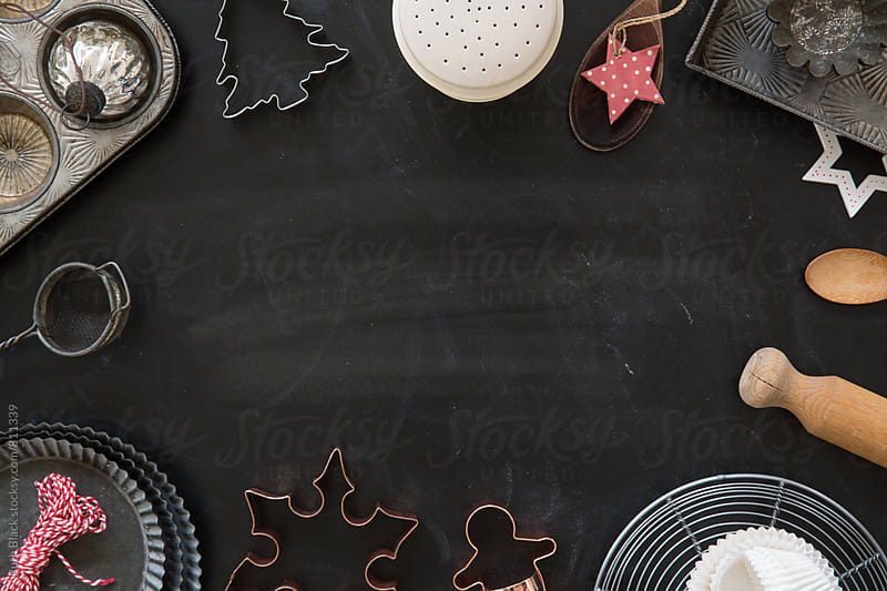 Christmas baking background by Ruth Black for Stocksy United