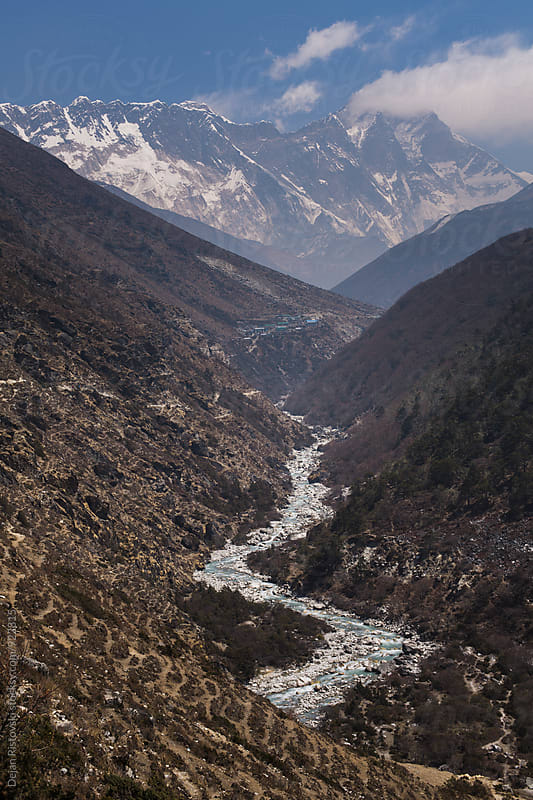 Beautiful canyon on the Himalayas mountain range. by Dejan Ristovski for Stocksy United