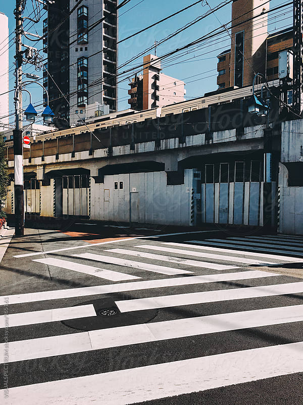Japan - Zebra Crossings in Tokyo by VISUALSPECTRUM for Stocksy United