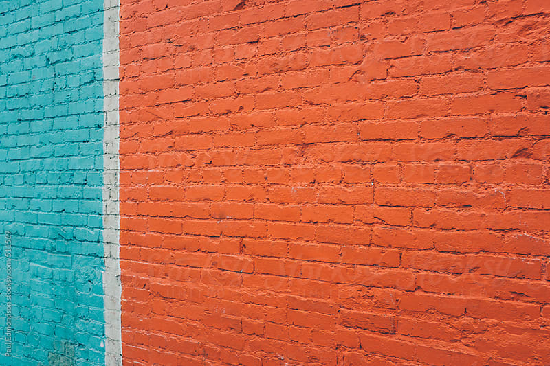 Painted brick wall, close up by Paul Edmondson for Stocksy United