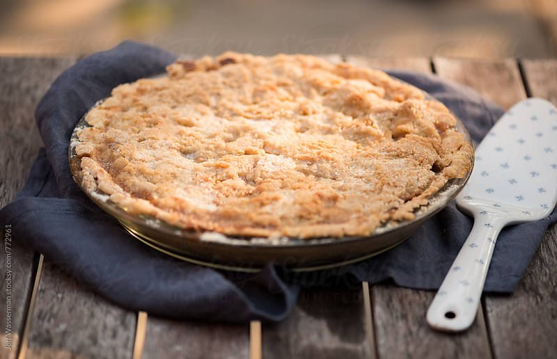 Homemade Apple Pie Cooling by Jeff Wasserman for Stocksy United