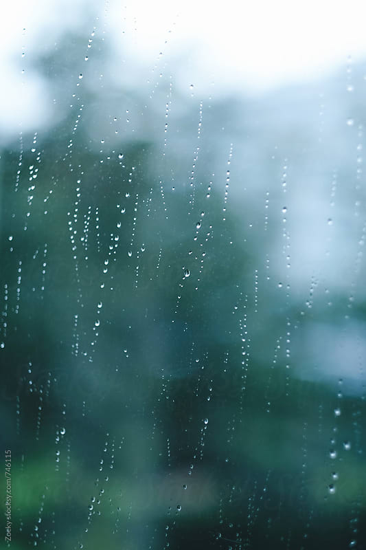 Raindrops on the window by Zocky for Stocksy United