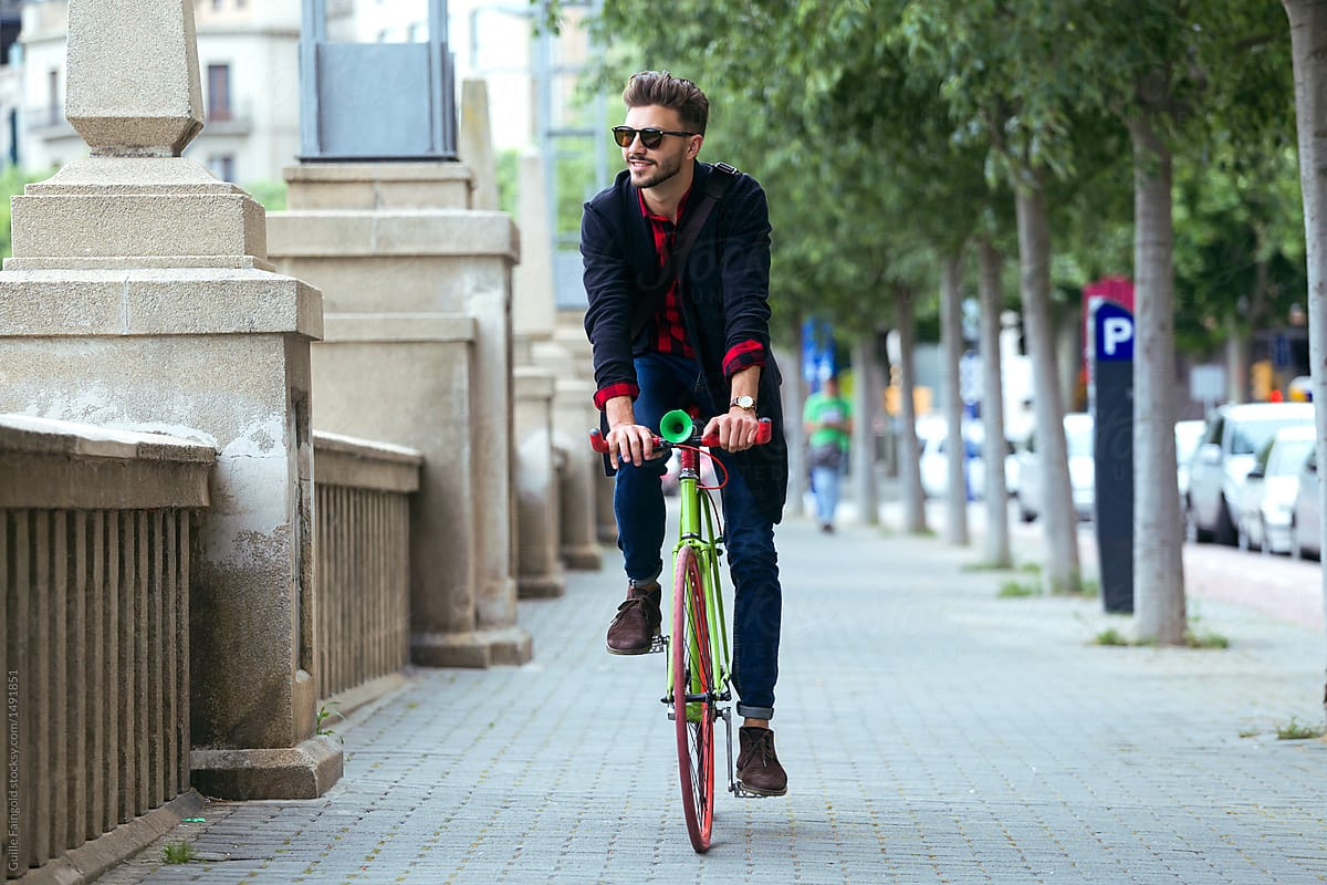 Image result for man riding bicycle