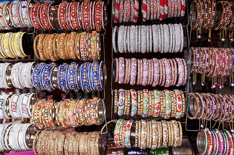 colorful bangles selling in a local market by PARTHA PAL for Stocksy United