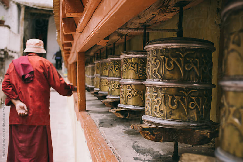 Prayer wheels by Daria Berkowska for Stocksy United