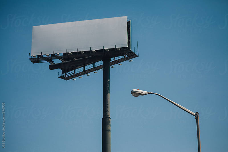 Blank Billboard in Brooklyn by L&S Studios for Stocksy United