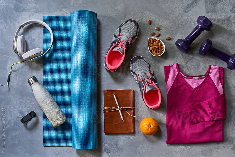 Sportswear and equipment for wellness by Trent Lanz for Stocksy United