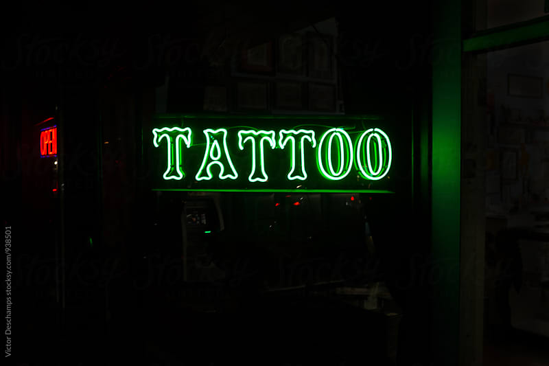 Tattoo Neon by Victor Deschamps for Stocksy United