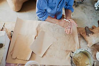 Plaster Molds For Papier Mache Handicraft | Stocksy United