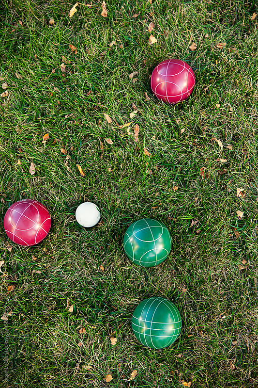Party: Bocce Balls On Grass by Sean Locke for Stocksy United