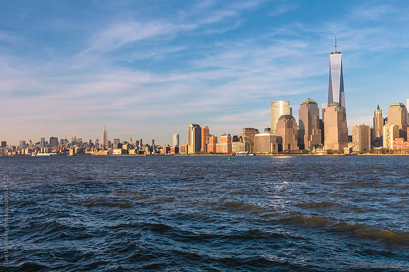 Manhattan Skyline and the Hudson River, New York City as Seen from New Jersey by Tom Uhlenberg for Stocksy United