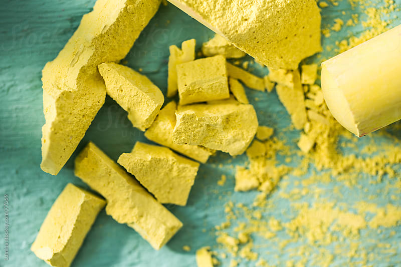 Crushed Yellow Chalk by Lumina for Stocksy United