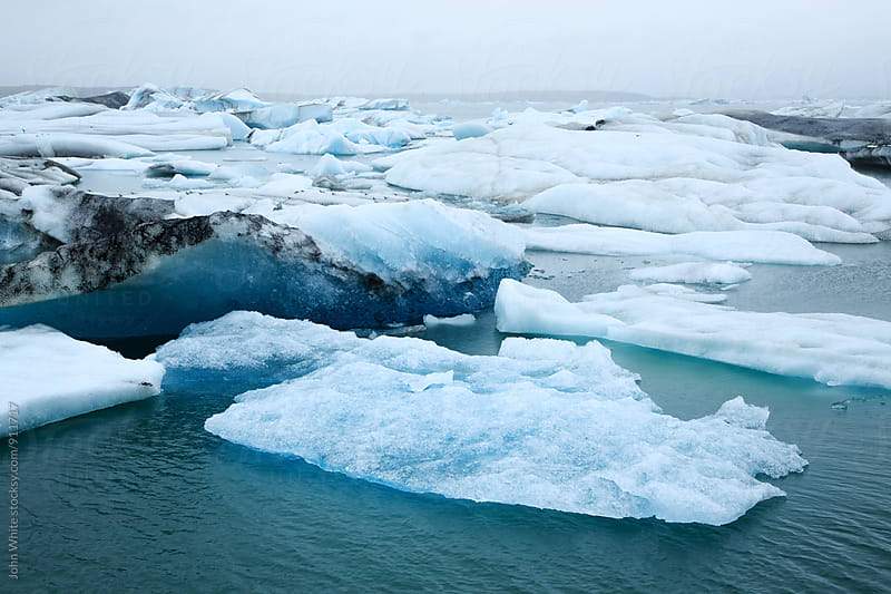 Ice in the Jokulsarlon Lagoon. Iceland. by John White for Stocksy United