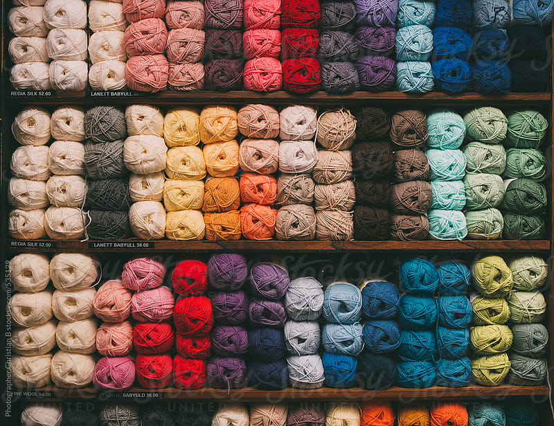 Yarn shop by Photographer Christian B for Stocksy United