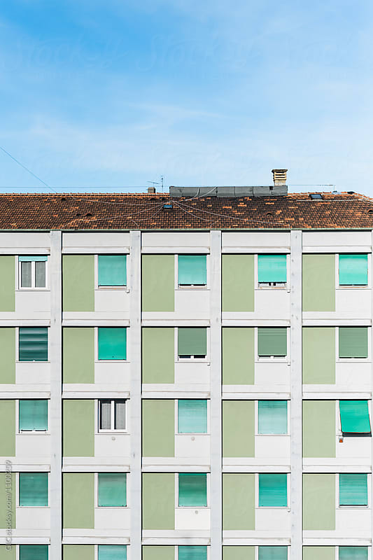 Facade building pattern architecture by Simone Becchetti for Stocksy United