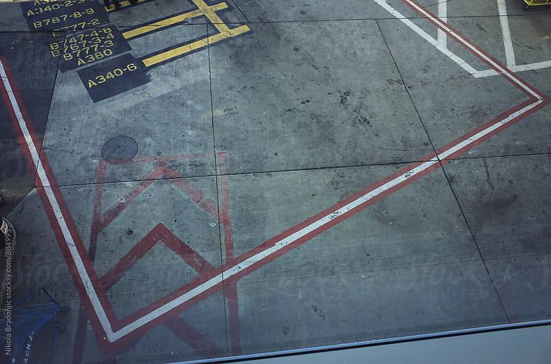 Geometric lines on the concrete by Nikola Bradonjic for Stocksy United