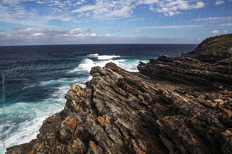Jagged rocks along the beautiful Australian coast by Maximilian Guy McNair MacEwan for Stocksy United