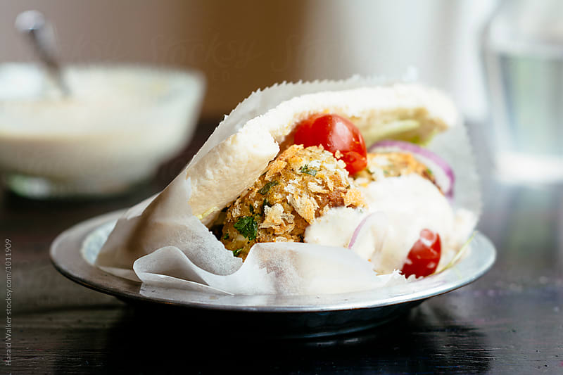 Falafel Salad by Harald Walker for Stocksy United