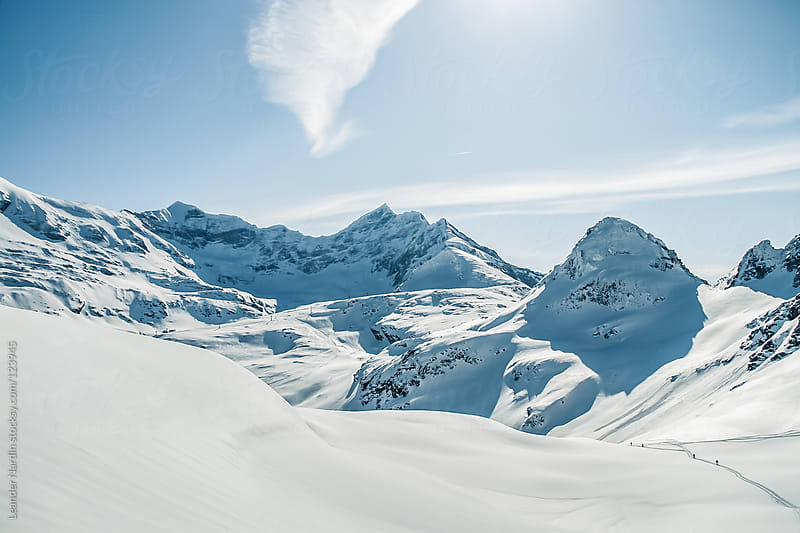 winterlandscape on a glacier in the austrian alps by Leander Nardin for Stocksy United