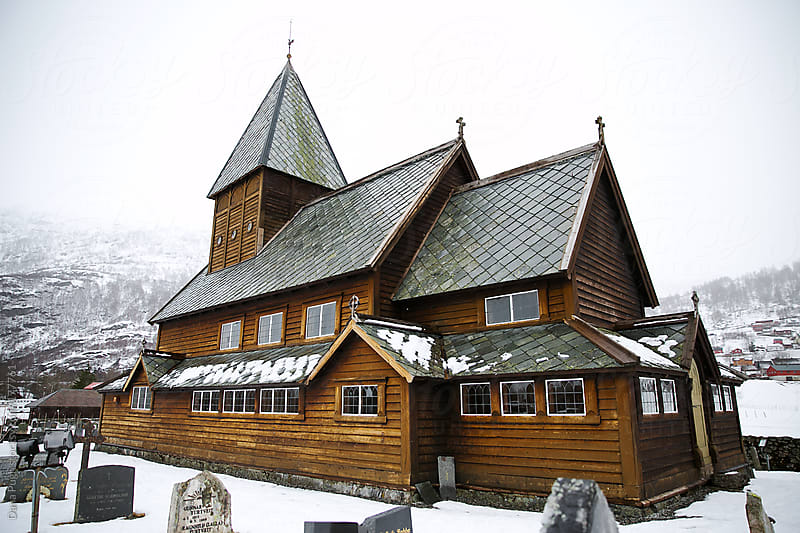 Roldal Stave Church Norway by Dana Pugh for Stocksy United