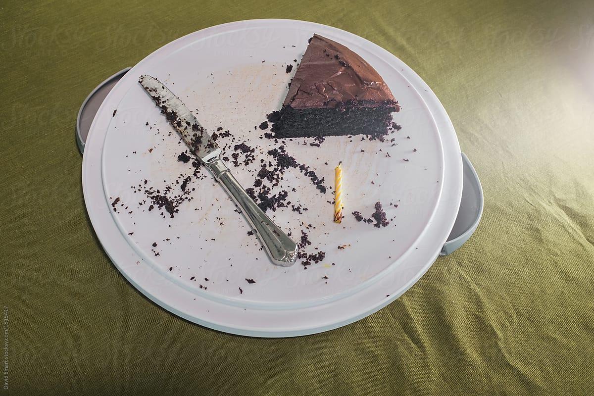 Pleasing Last Piece Of Birthday Cake By David Smart Cake Stocksy United Personalised Birthday Cards Petedlily Jamesorg