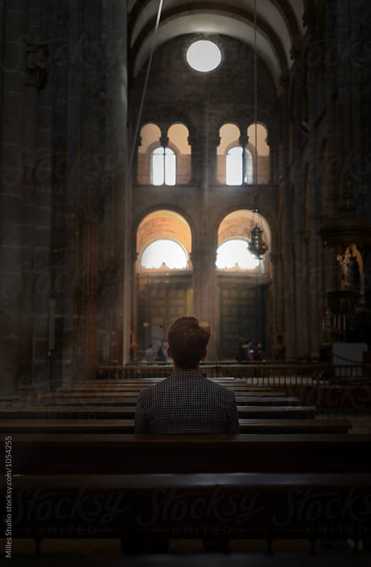 Man at Church by Milles Studio for Stocksy United