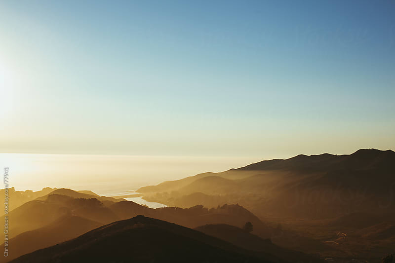 Sunset over Marin Headlands, California by Christian Gideon for Stocksy United