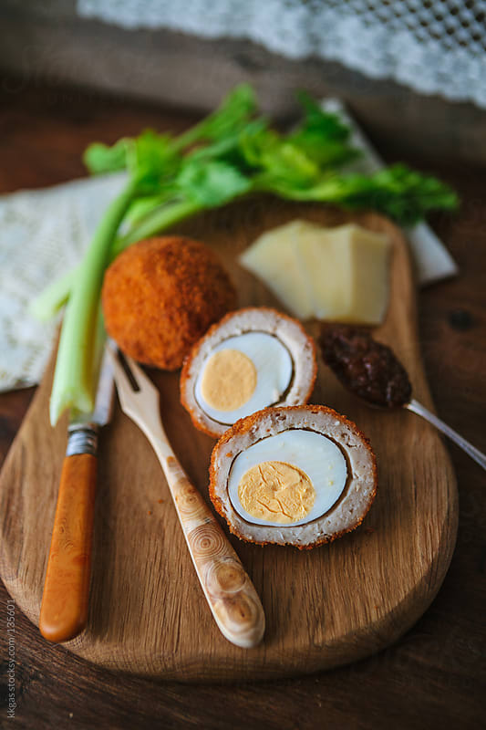 Scotch eggs. by kkgas for Stocksy United