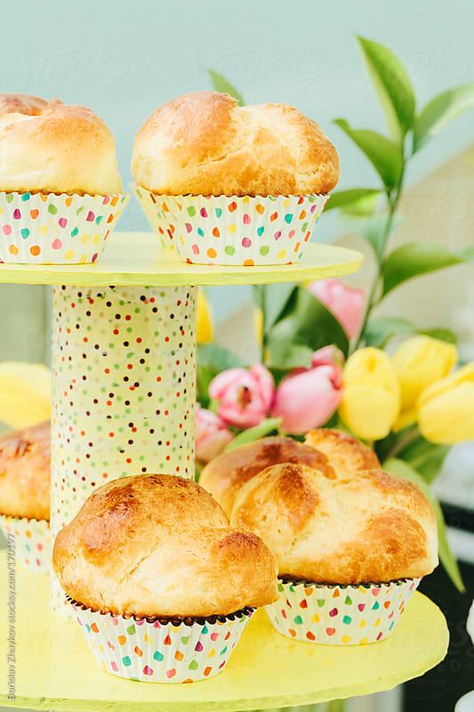 Traditional home made cakes for Easter by Borislav Zhuykov for Stocksy United