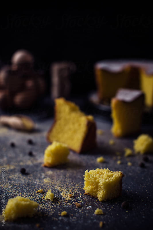 Golden corn cake by Federica Di Marcello for Stocksy United