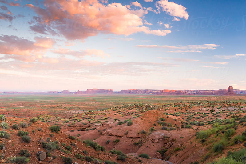 Monument Valley Utah Photographed from U.S. 163 Scenic, Oljato-Monument Valley at Dusk by JP Danko for Stocksy United