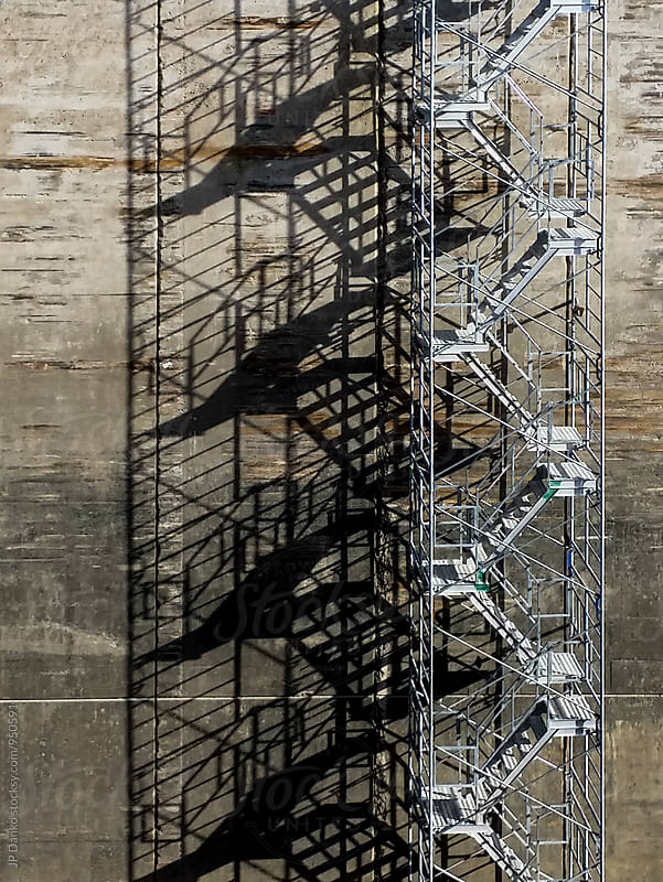 Temporary Steel Stairs On Large Civil Engineering Construciton S by JP Danko for Stocksy United