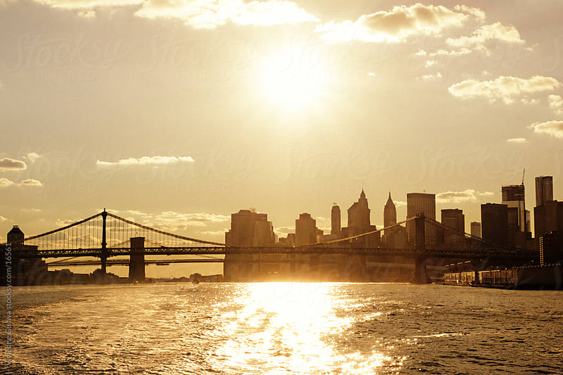 New York City - Sunset Over the Skyline  by Vivienne Gucwa for Stocksy United