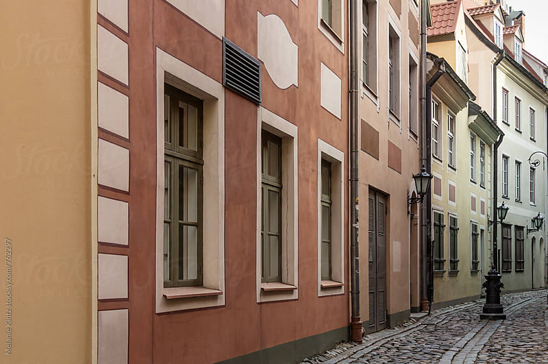 Narrow street in the old town of Riga by Melanie Kintz for Stocksy United