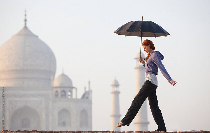 Tourist travelling in India. by Hugh Sitton for Stocksy United