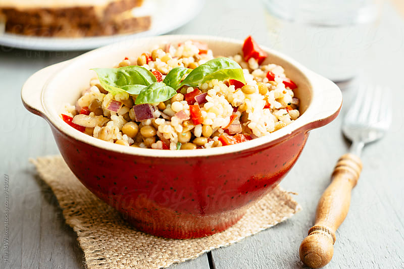 Lemony Barley Lentil Salad by Harald Walker for Stocksy United