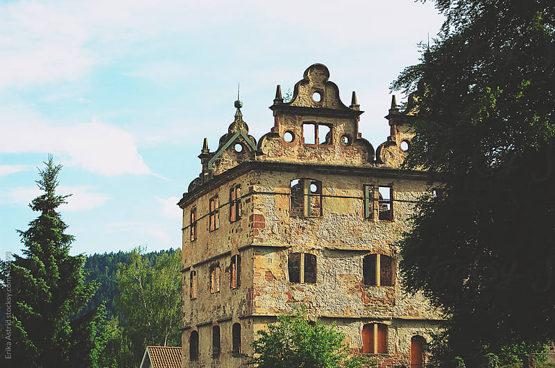 German castle ruin by Erika Astrid for Stocksy United