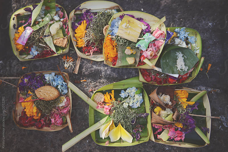 Bali offerings by Kirsty Larmour for Stocksy United