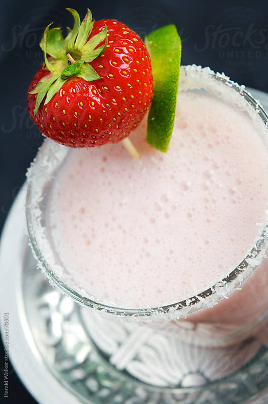 Strawberry-Coconut-Coladraitas by Harald Walker for Stocksy United