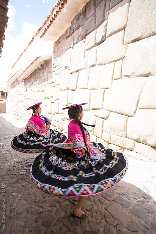 Traditional Peruvian Dancers. Peru by Hugh Sitton for Stocksy United