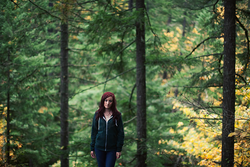 Fall Forest Portrait by Kevin Russ for Stocksy United