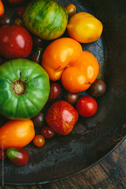 Heirloom Tomatoes by Andrew Cebulka for Stocksy United