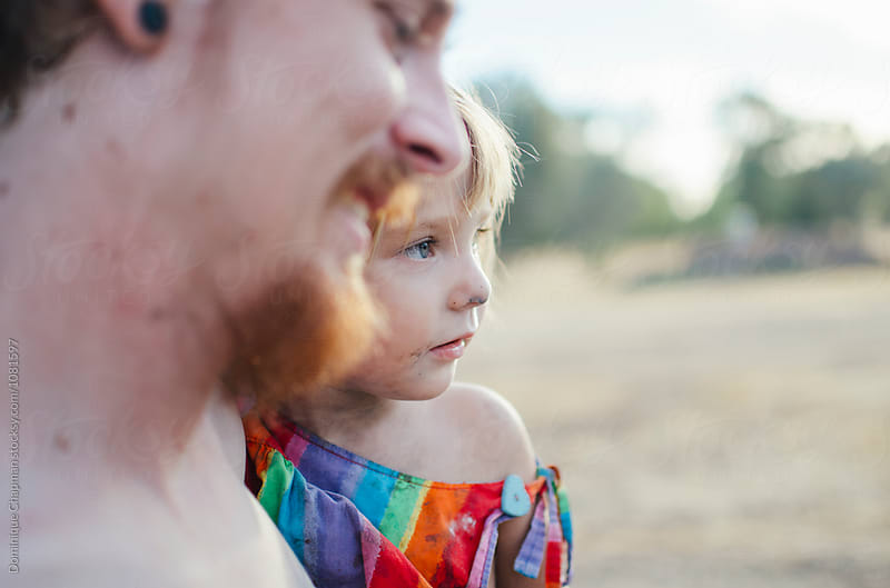 Young girl with her dad by Dominique Chapman for Stocksy United