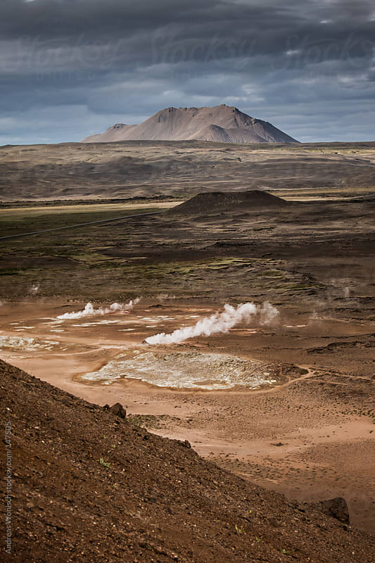 Geothermal Area in Iceland by Andreas Wonisch for Stocksy United