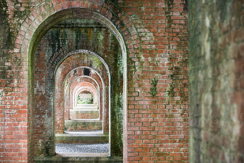 Philosopher's path aqueduct, Kyoto, Japan by Jon Rodriguez for Stocksy United