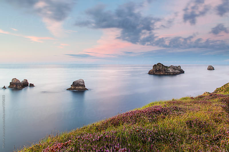 Sunset on the coast by Marilar Irastorza for Stocksy United
