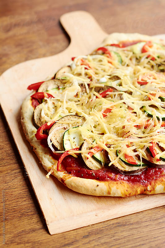 Ratatouille Pizza (vegan) by Harald Walker for Stocksy United