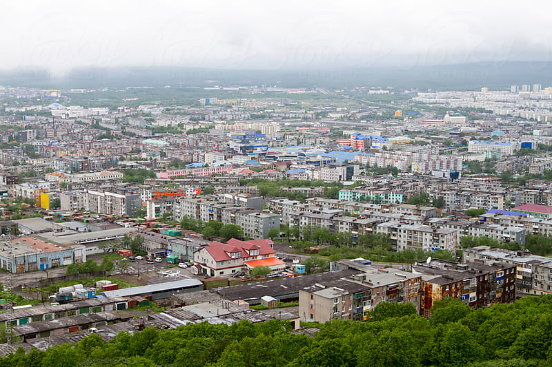 Petropalovsk-Kamchatsky, Kamchatka's capital by Mihael Blikshteyn for Stocksy United