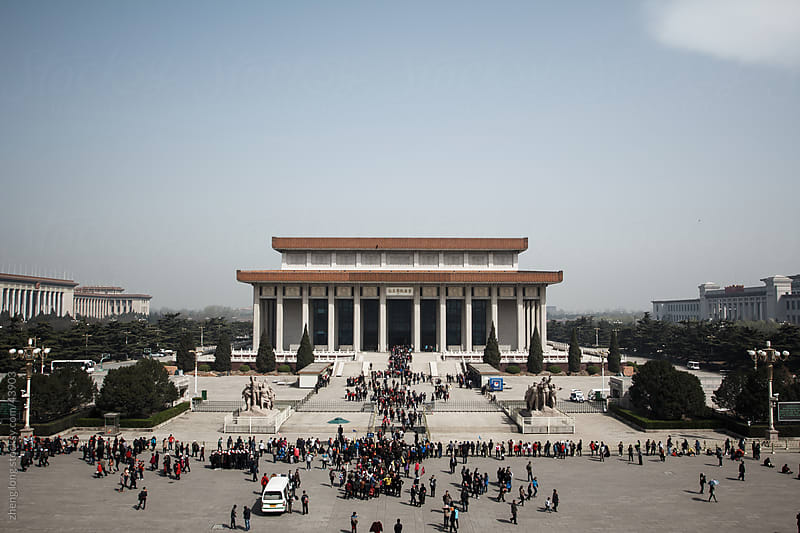 The Chairman Mao Memorial Hall by zheng long for Stocksy United