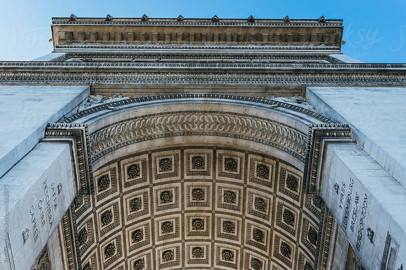 Arc de Triomphe detail in Paris, France by Trent Lanz for Stocksy United